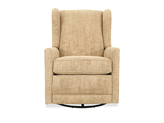 "Traditional 29.5"" Swivel Glider Recliner in Beige"