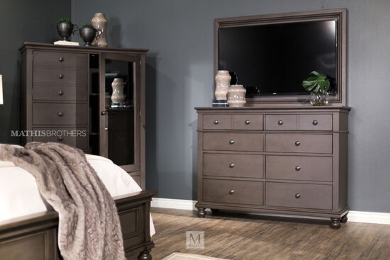 "45"" Transitional Eight-Drawer Chesser in Peppercorn"