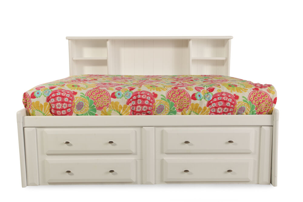 Solid pine youth bookcase bed with storage drawers in - Childrens pine bedroom furniture ...
