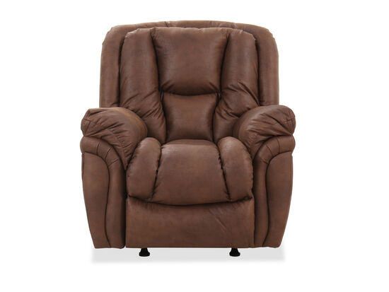 "Casual 41"" Rocker Recliner in Brown"