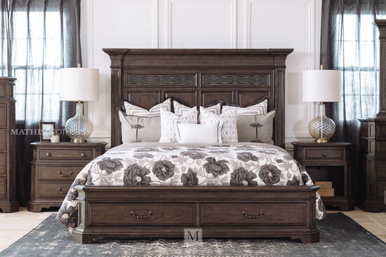 "72"" Nailhead-Accented King Storage Bed in Truffle"