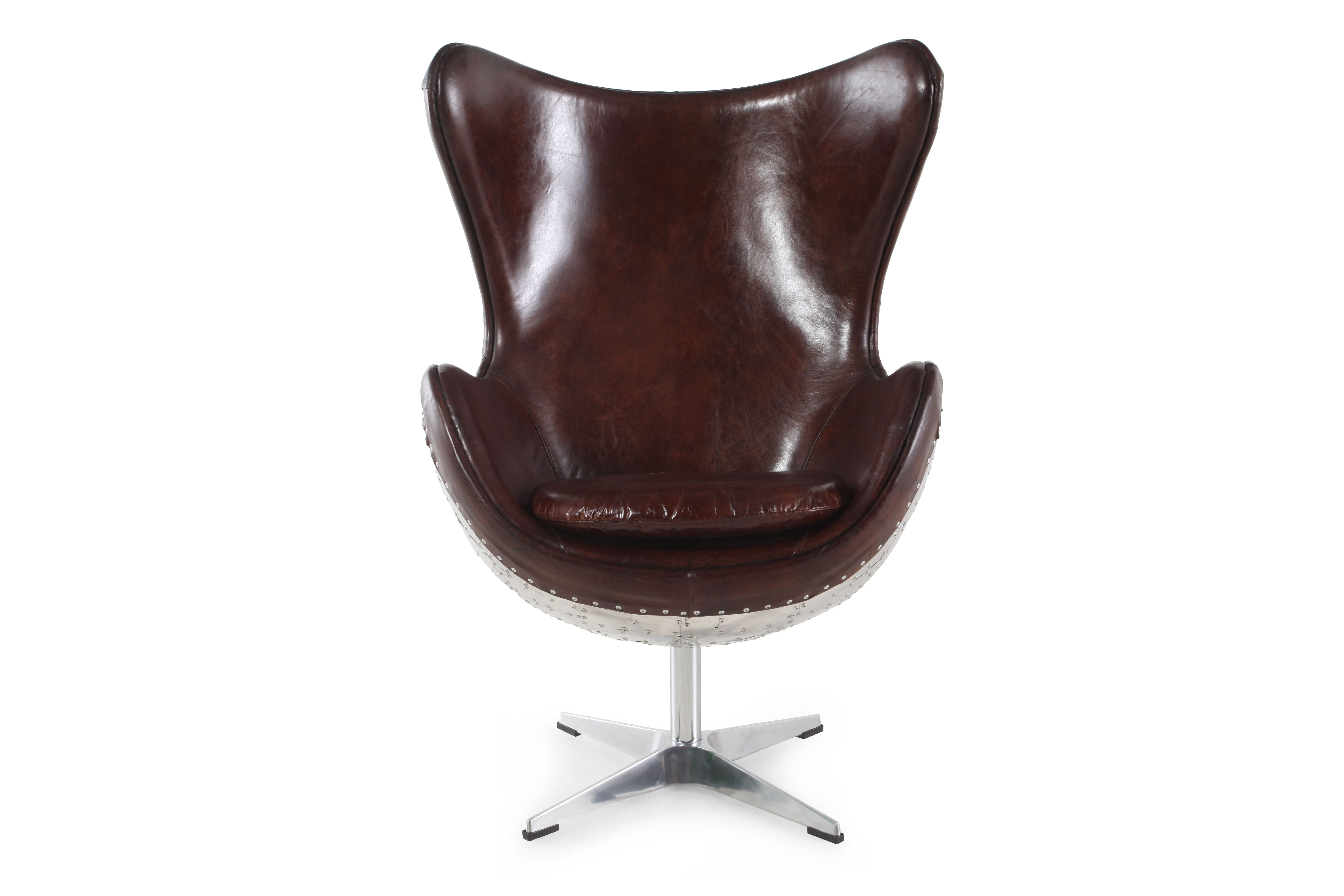 pulaski solomon leather swivel accent chair
