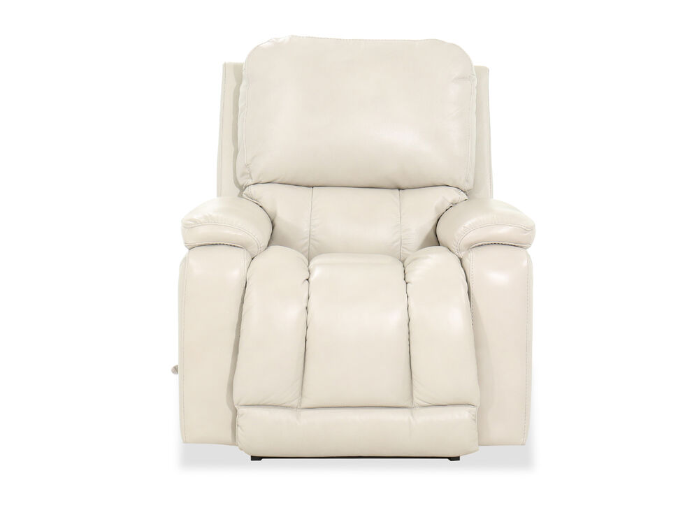 """39"""" Leather Rocking Recliner in White"""