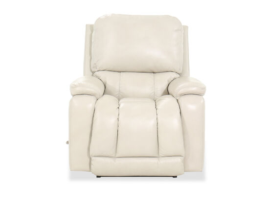 "39"" Leather Rocking Recliner in White"