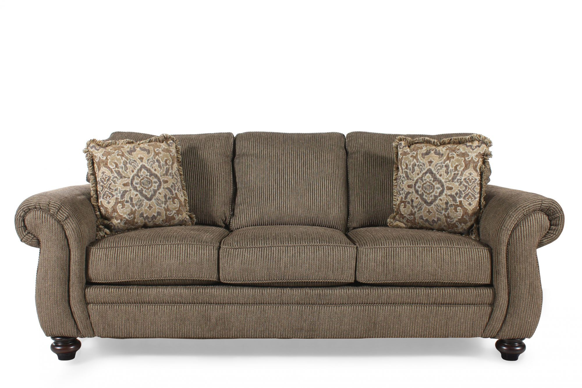 Corduroy 89u0026quot; Queen Sleeper Sofa ...