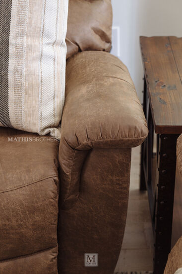"""Casual 87"""" Power Reclining Sofa in Brown"""