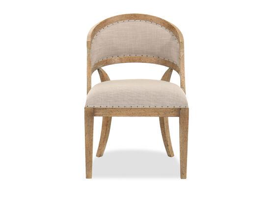 Barrel Back 34'' Side Chair in Gray