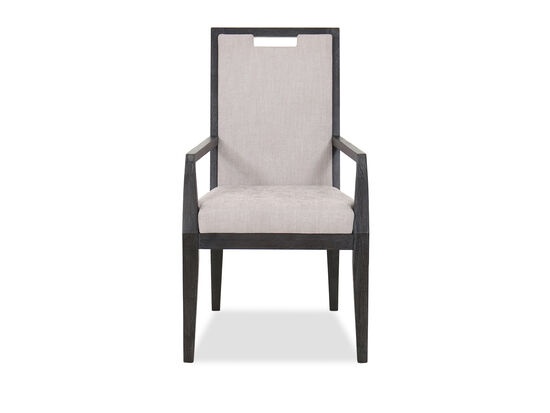 "40"" Transitional Arm Chair in Gray"