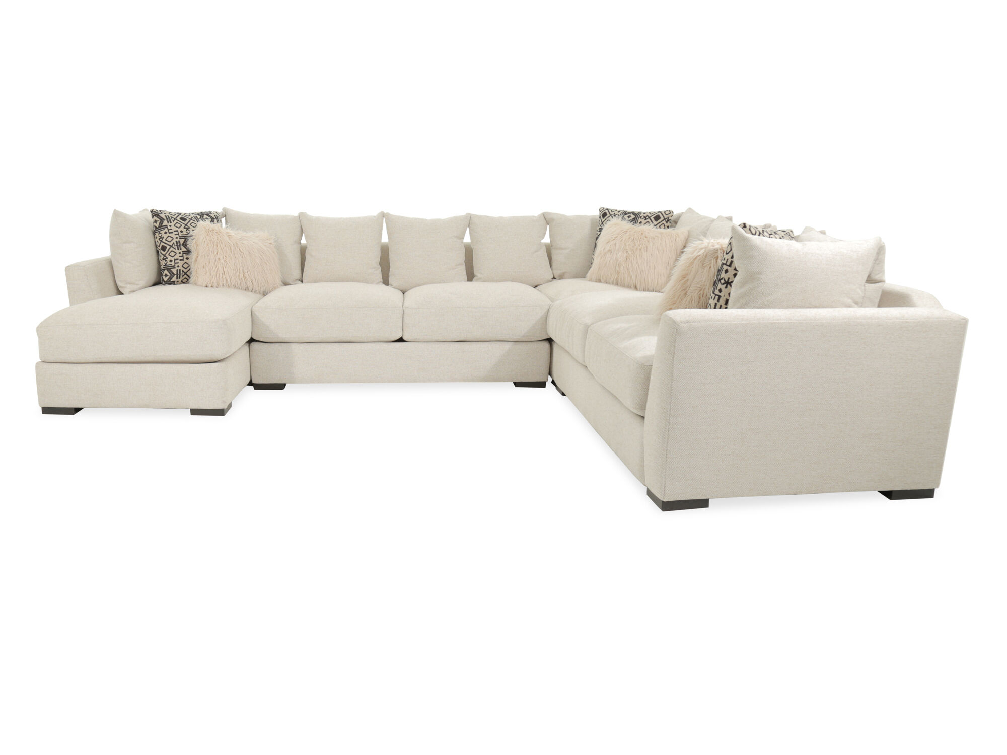 Four Piece Casual Sectional In Ivory