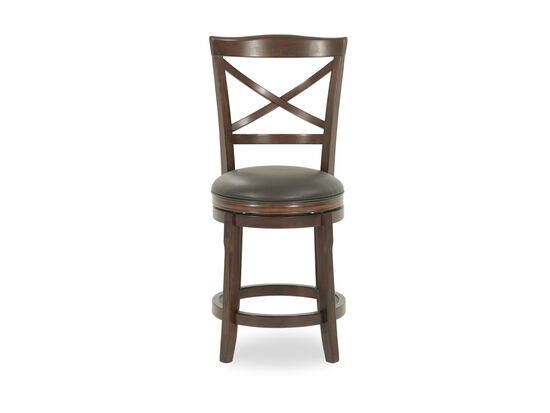 "Casual 42"" X-Back Swivel Bar Stool in Brown"