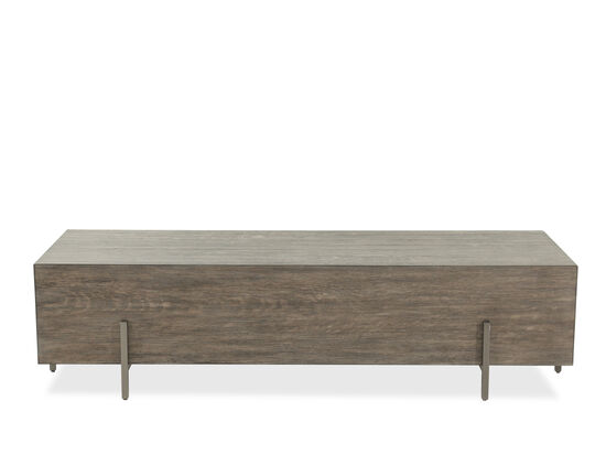 Rectangular Contemporary Cocktail Table in Mountain Brown