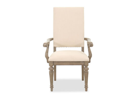"""Traditional 25"""" Arm Chair in Beige"""