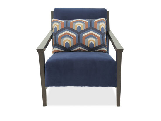 "Contemporary 29"" Accent Chair in Blue"