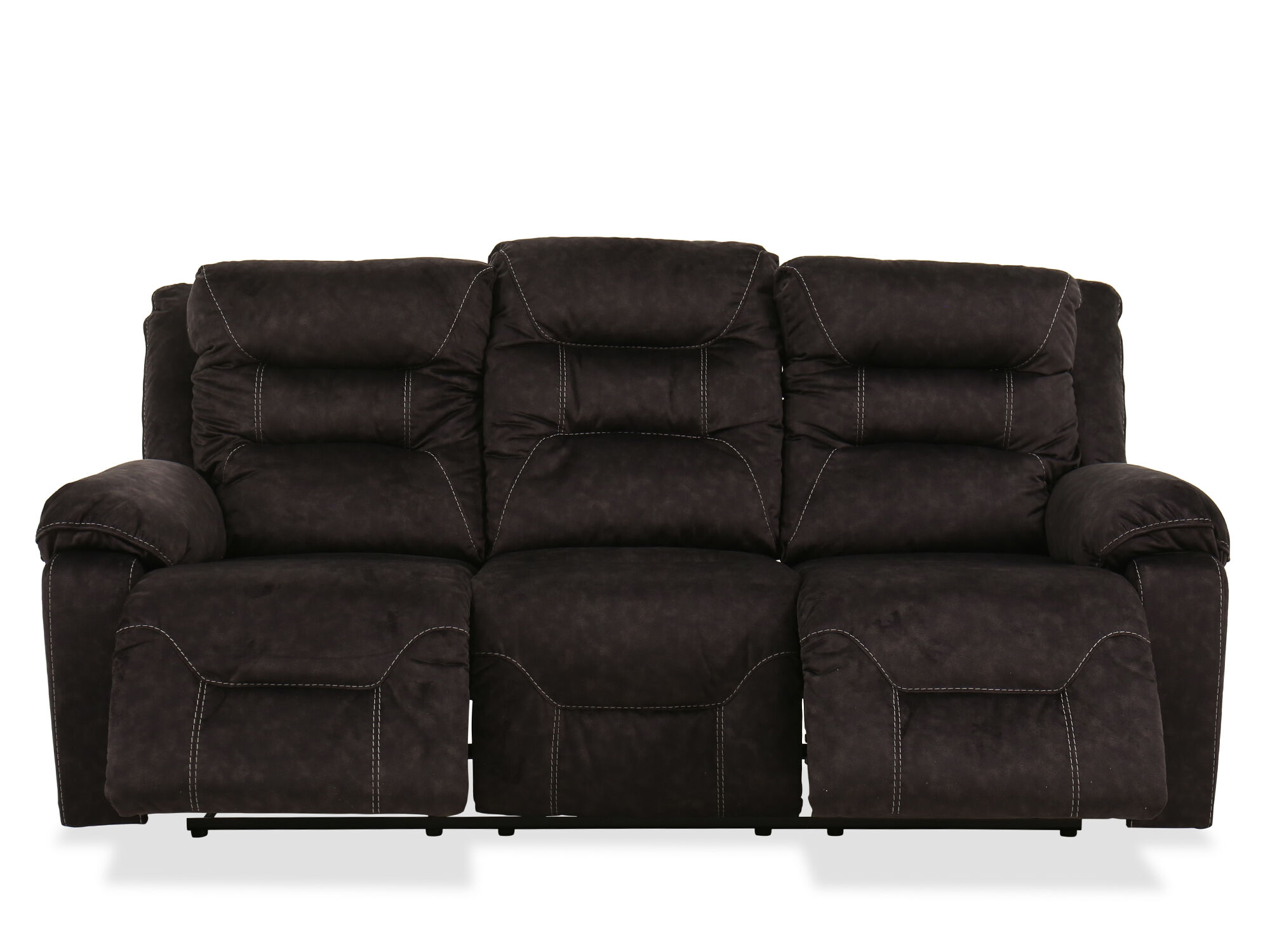86 Quot Power Reclining Sofa In Gray Mathis Brothers Furniture
