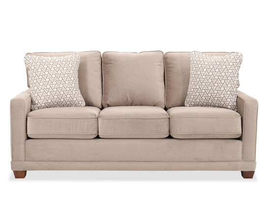 """Transitional 77"""" Track Arm Sofa in Brown"""