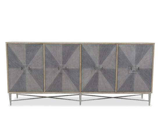 38'' Four-Door Contemporary Credenza in Gray
