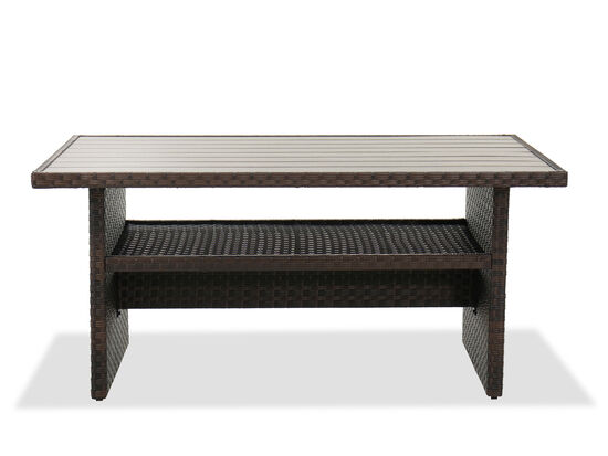 Contemporary Patio Dining Table in Brown