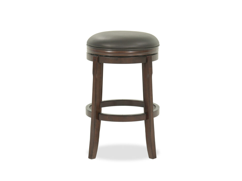 "Casual 29"" Swivel Bar Stool in Brown"