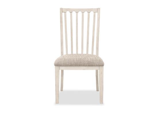 Casual Slat Back Side Chair in Beige