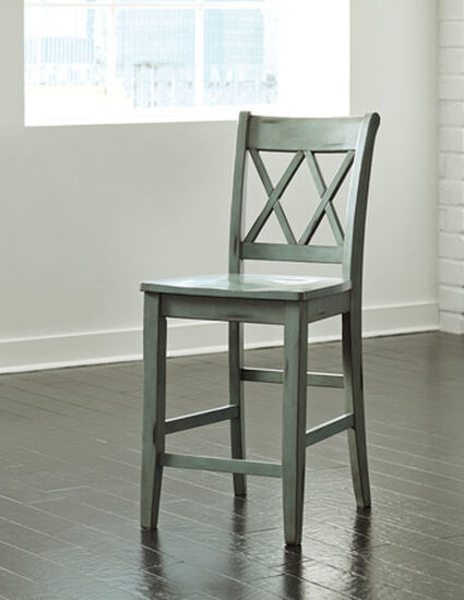 """Casual 40.5"""" X-Back Bar Stool in Green"""
