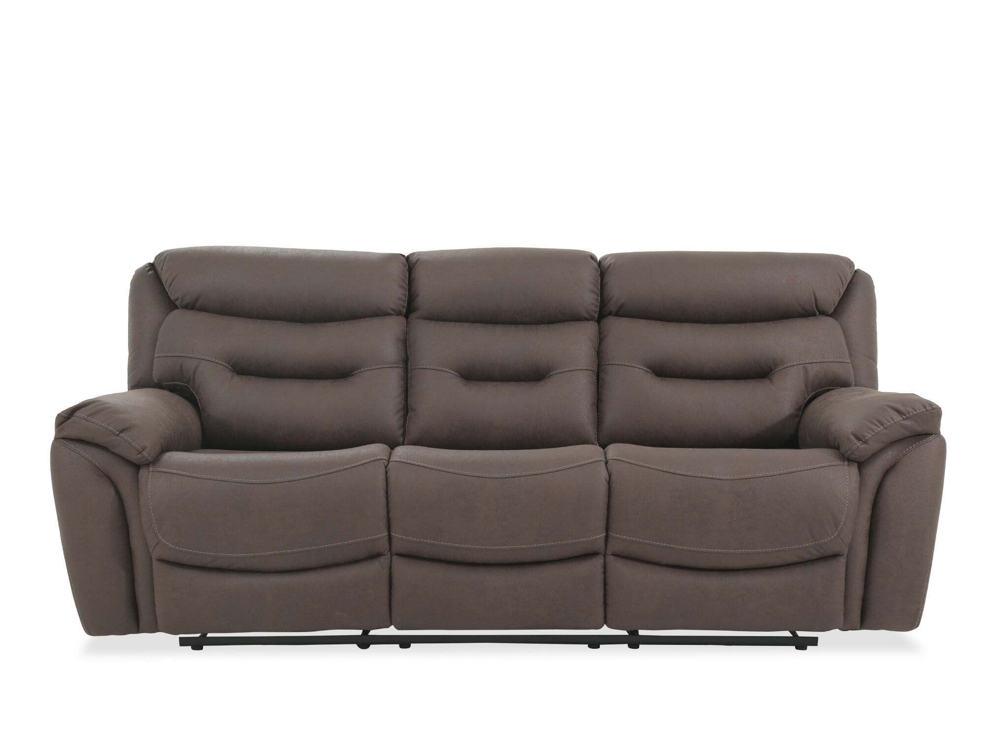 casual 90 power reclining sofa in chocolate mathis brothers furniture. Black Bedroom Furniture Sets. Home Design Ideas