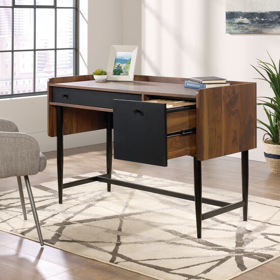 "46"" Modern File-Drawer Desk in Grand Walnut"