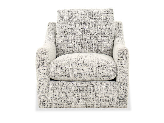 """Transitional 33"""" Swivel Chair in Cream"""