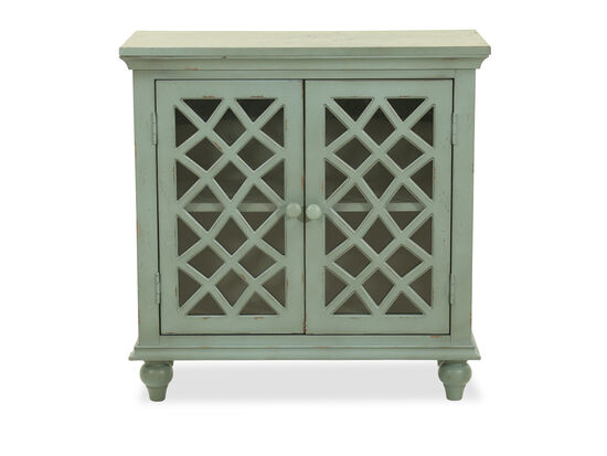 Traditional Accent Cabinet in Antique Teal