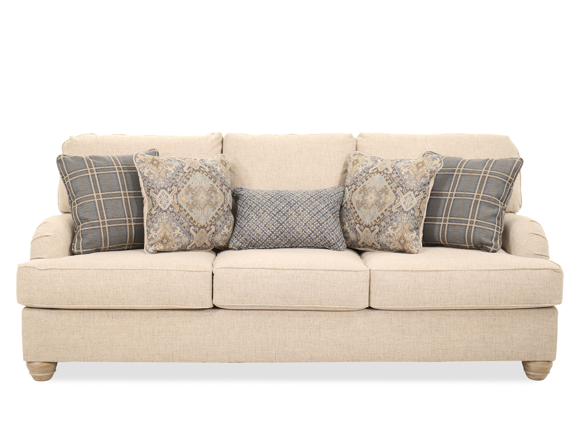 Casual 91u0026#39;u0026#39; Three Seater Sofa In Beige ...
