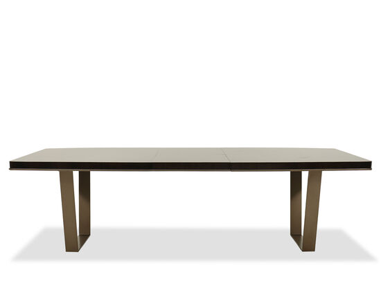 "Rectangular 82"" to 104"" Dining Table in Aged Bourbon"