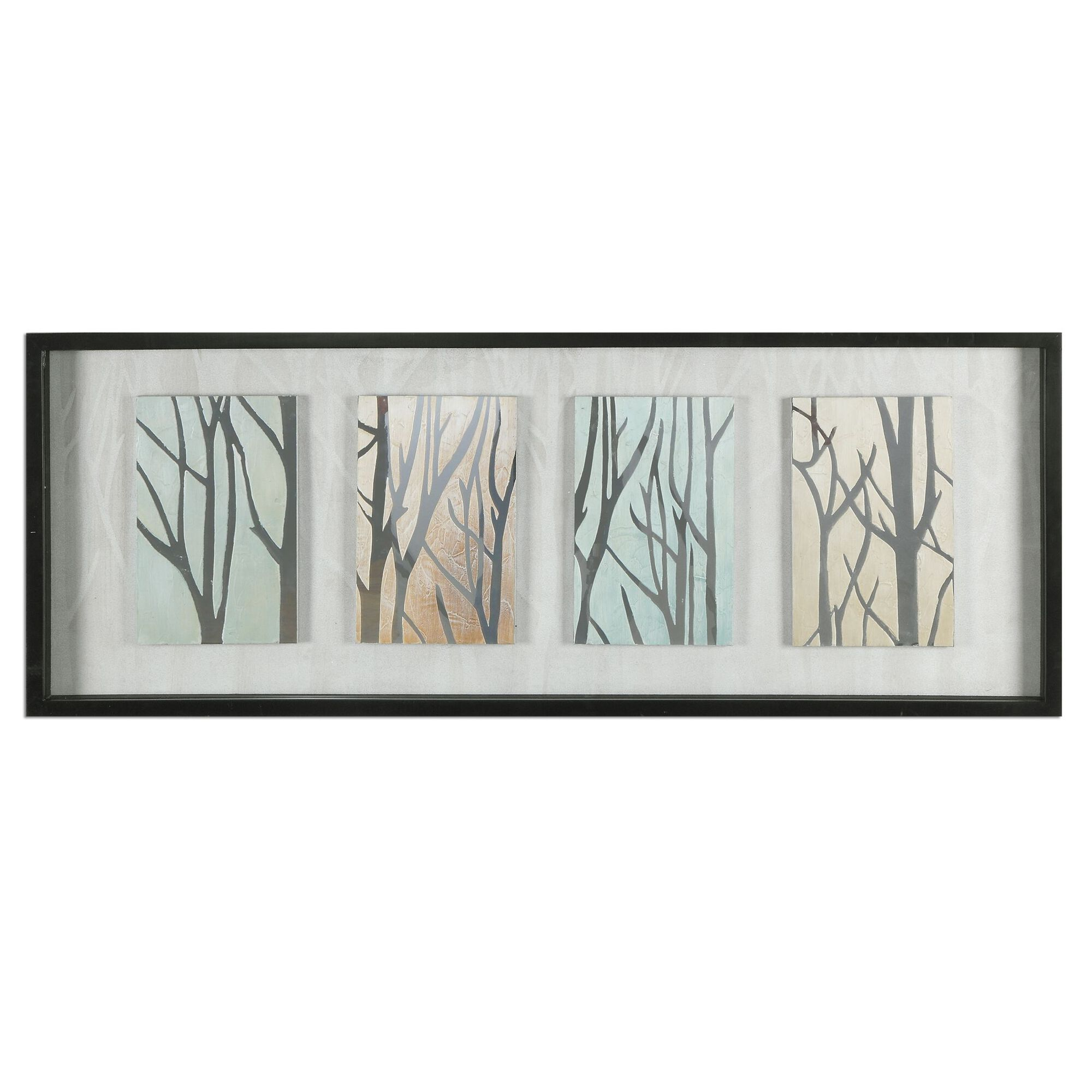 Framed Tree Trunks Shadow Box Display Wall Art | Mathis Brothers ...