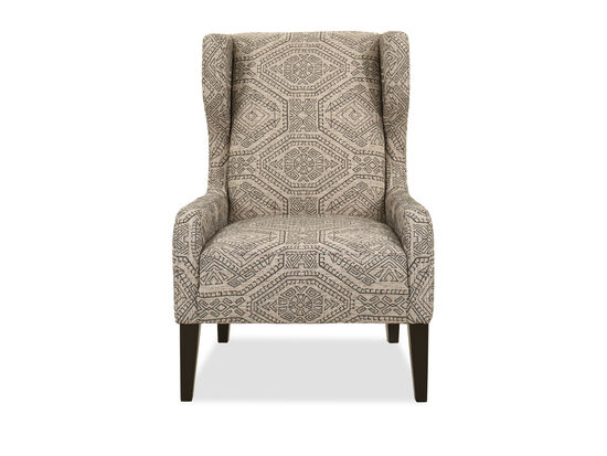 """Casual 32"""" Wing Chair in Charcoal Gray"""