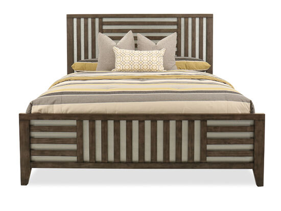 "62"" Lattice-Framed Queen Bed in Driftwood"