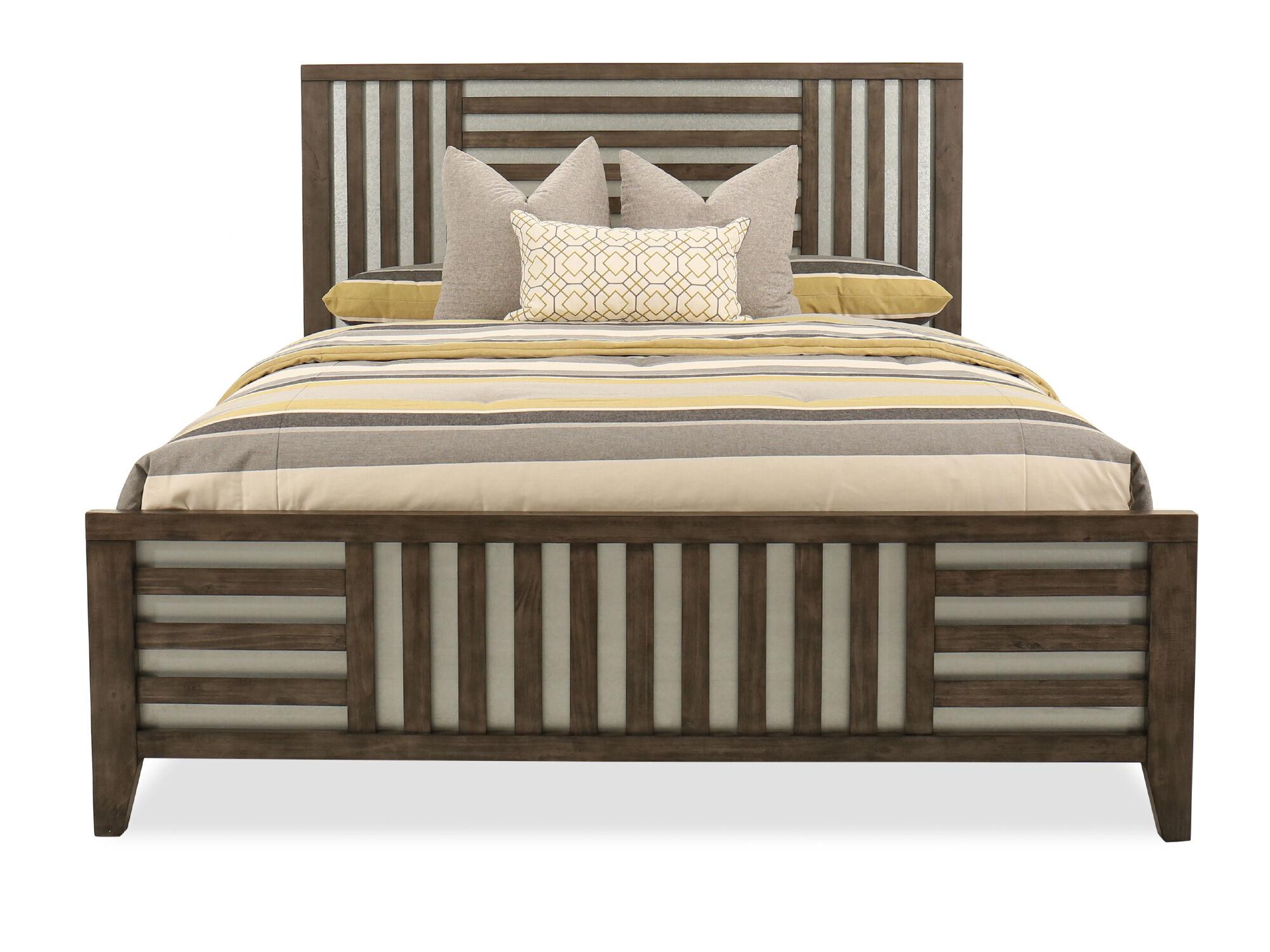 62u0026quot; Lattice Framed Queen Bed In ...