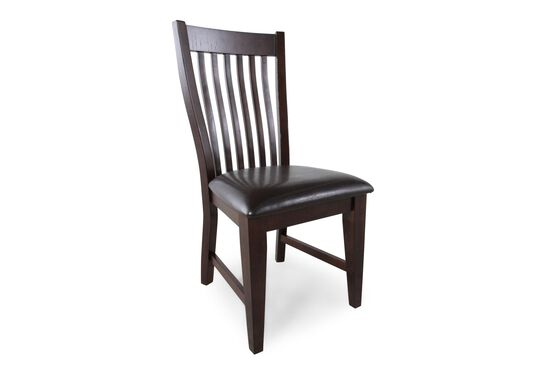 Two-Piece Slat Back 40'' Side Chair Set in Dark Brown