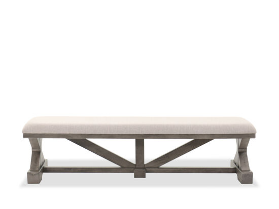 "19"" Traditional Dining Bench in Gray"