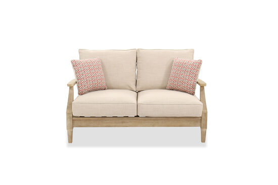 Contemporary Loveseat in Beige