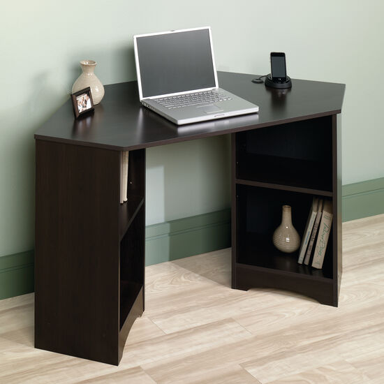 "53"" Casual Four-Shelf Corner Desk in Cinnamon Cherry"