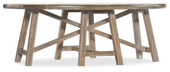 Boheme Saison Oval Cocktail Table in Light Wood