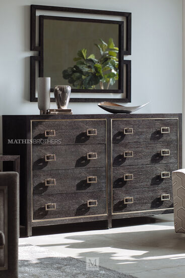 """44"""" Traditional Eight-Drawer Dresser in Cerused Mink"""