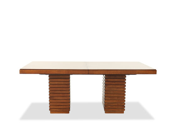 """Contemporary 78"""" to 100"""" Extension Dining Table in Walnut"""