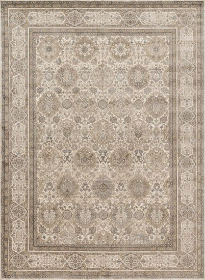 "Transitional 2'-7""x4' Rug in Sand/Taupe"
