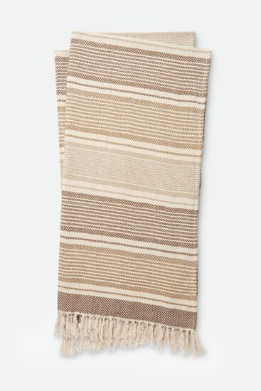 "4'-2""x5' Throw in Beige/Ivory"
