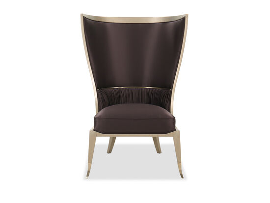 "Contemporary 34"" Wingback Chair in Golden Shimmer"