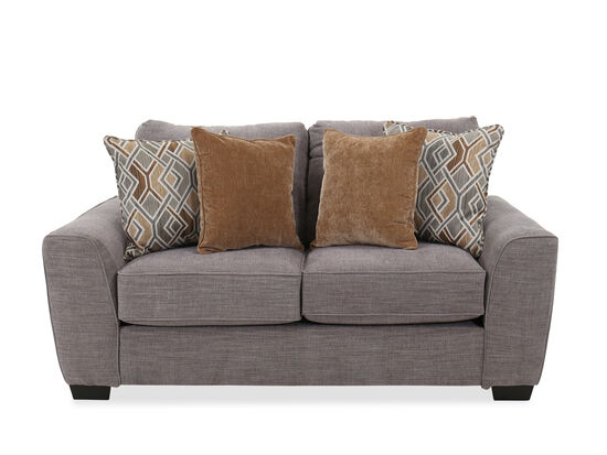 "Contemporary 74"" Loveseat in Silver"