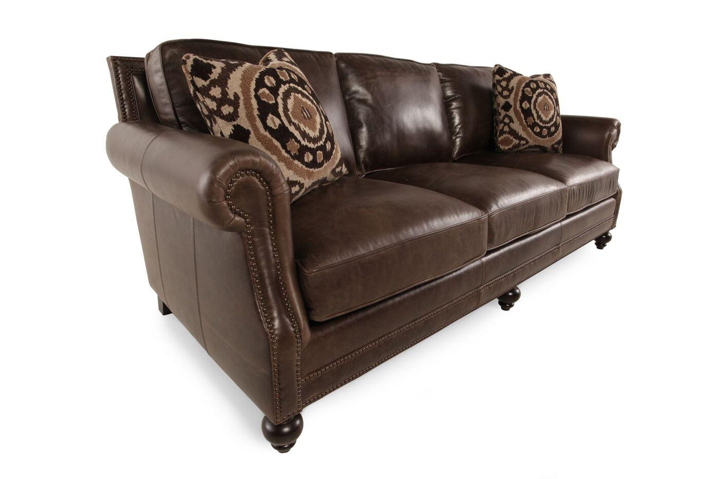 Bernhardt Brae Leather Sofa