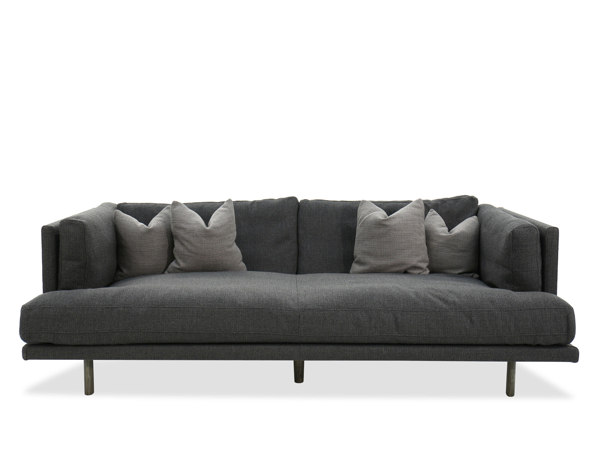 Images Modern Low Profile 98u0026quot; Shelter Sofa In Gray Modern Low Profile  98u0026quot; Shelter Sofa In Gray