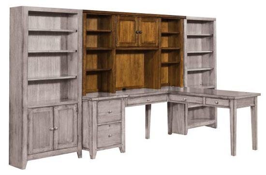 "78"" Country Two-Door Modular Hutch in Saddle Brown"
