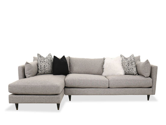 Contemporary Two-Piece Sectional in Gray