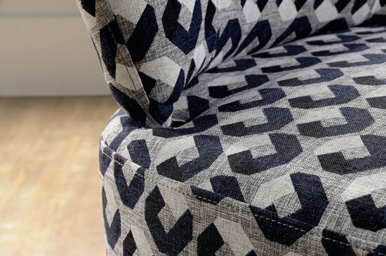 """Orbit-Patterned Contemporary 25"""" Accent Chair"""